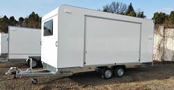 Přívěs Tomplan TFSP 500T.01 2700kg 500x220x210cm skříňový autopřepravník
