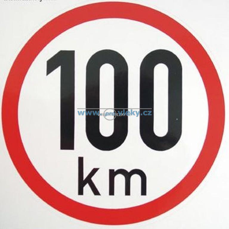 Samolepka rychlost 100 km/hod 15cm - Náhradní díly - Samolepky - omezení rychlosti