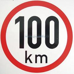 Samolepka rychlost 100 km/hod 19cm