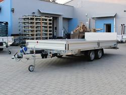 Přívěs UNK AD2100x4500 valník rampa sklopný 2700kg