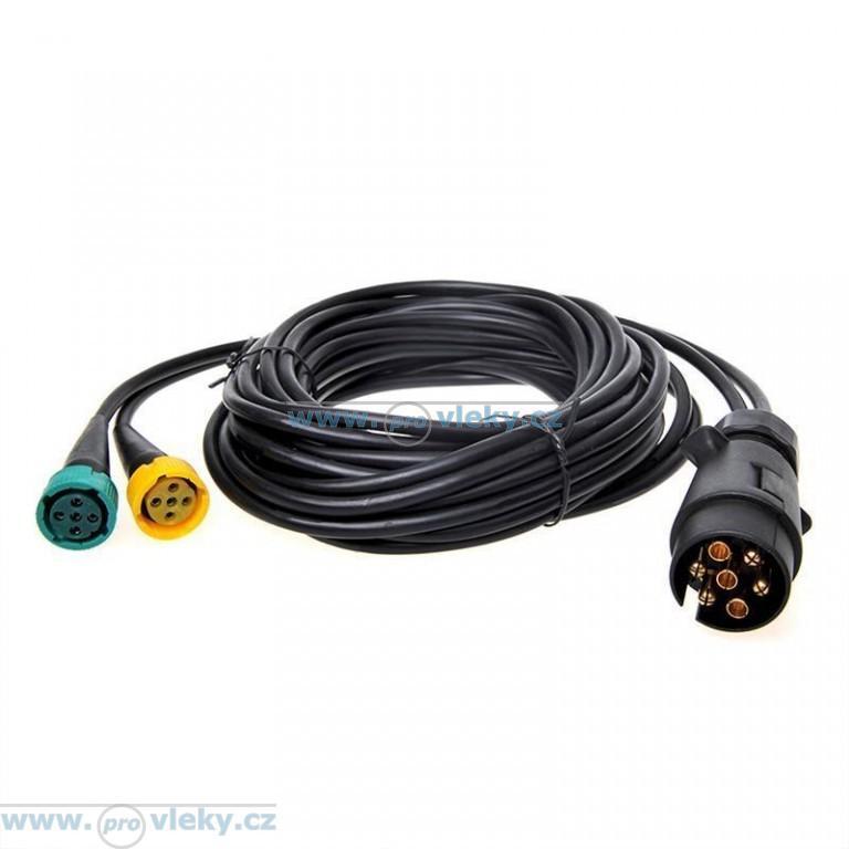 Kabeláž 12V 7-pól. délka 5m; 2x vývod pro př. osvětlení