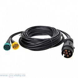 Kabeláž 12V 7-pól. dĺžka 5m; 2x vývod pre pr. Osvetlenie