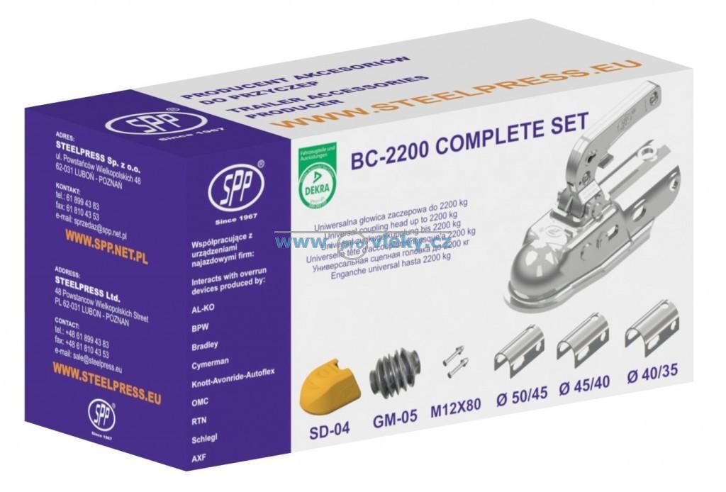 Přívěsný kloub BC-2200C W3 sada pr. 35,40,45,50, manžeta, kryt