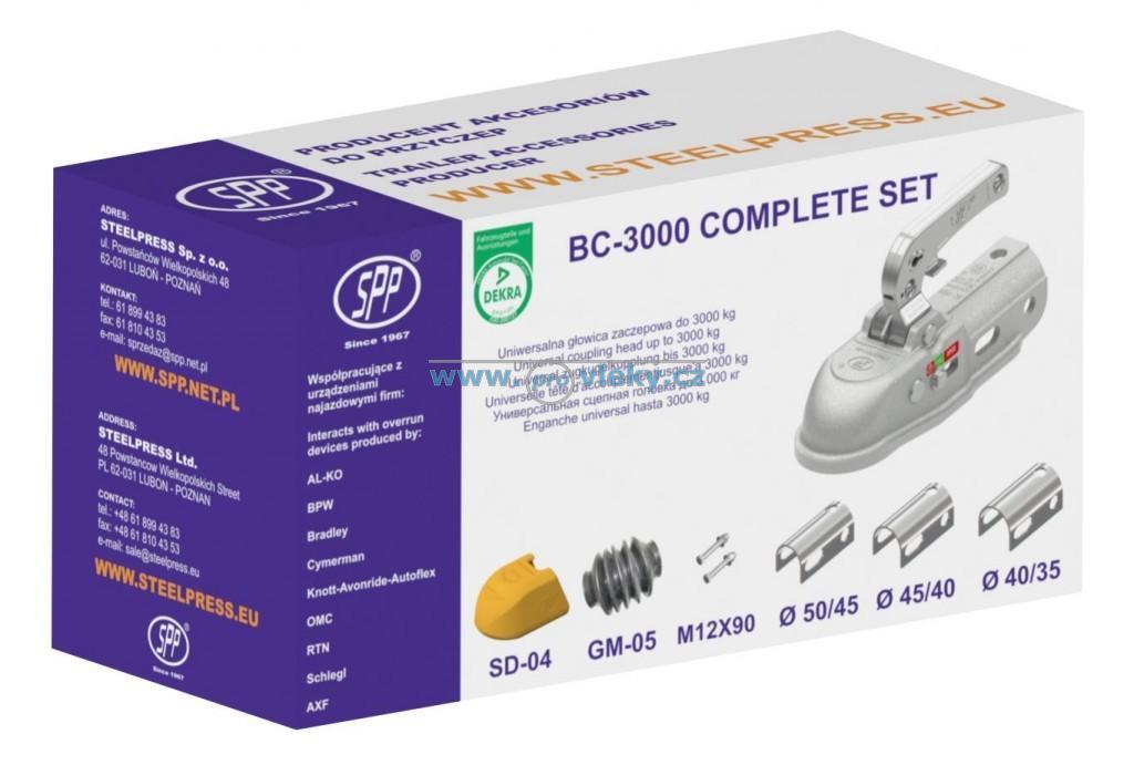 Přívěsný kloub BC-3000C W3 sada pr. 35,40,45,50, manžeta, kryt