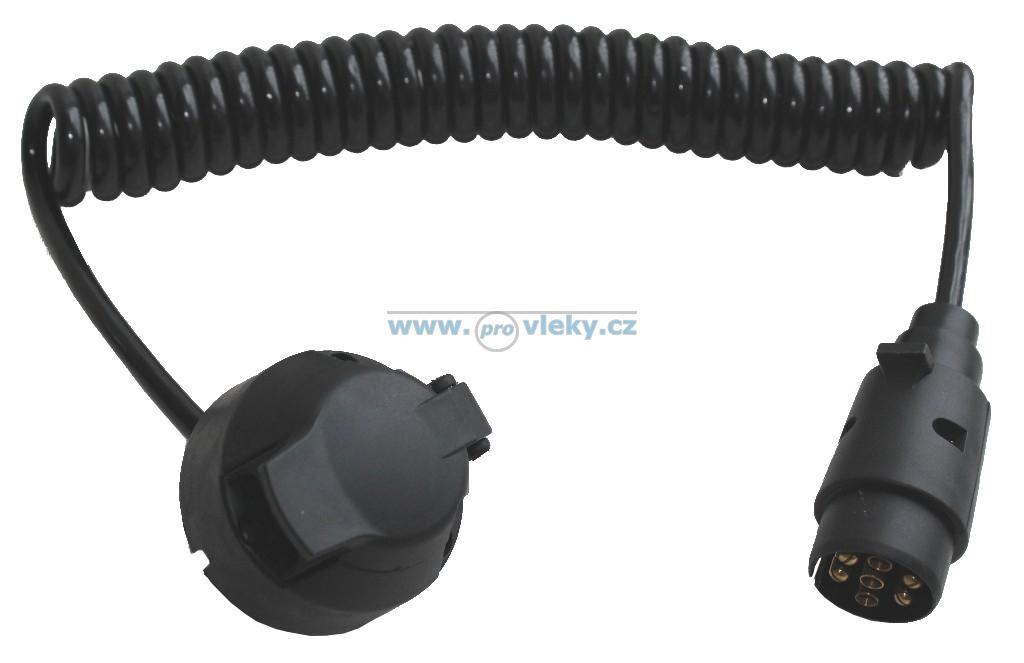 Spirálový prodlužovací kabel 12V 7-pól. vidlice a 7-pól. zásuvka