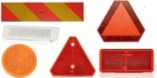 Odrazové sklá, reflexné tabule a pásky