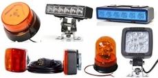 Pracovní světlomety, majáky, výstražná světla, produžovací sety