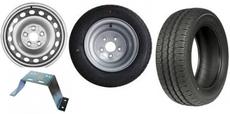Kola, pneu, disky, držáky rezerv, klíče