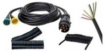 Kabely, kabelové sady, chráničky, konektory